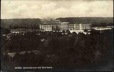 Wien alte Ansichtskarte 1928 gelaufen Blick auf Schloss Schönbrunn und Gloriette