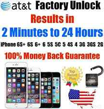 Factory Unlock Service/Code AT&T iPhone 3 3GS 4 4S 5 5C 5S 6 6+ 6S CLEAN IMEI