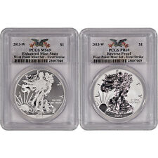 2013-W American Silver Eagle - West Point Two-Coin Set - PCGS 69 – First Strike