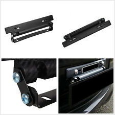 Carbon Fiber Coated Adjustable Car License Number Plate Frame Bracket Holder Kit