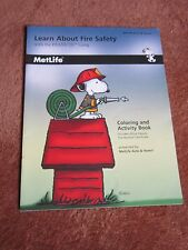 Metlife Snoopy Peanuts Gang 2005 Fire Safety Activity Book w/Deputy Certificate