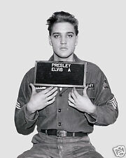 Elvis Presley 1960 Army Mugshot 8 x 10 Photo Picture