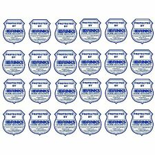 Lot of 24 Brinks ADT Security Monotoring System Window Warning Sticker Decals