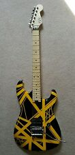 EVH Eddie Van Halen Striped Series Electric Guitar Black and Yellow Bumble Bee