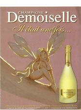 PUBLICITE  ADVERTISING  1998   VRANKEN   champagne  DEMOISELLE