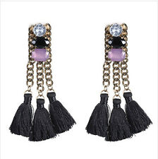 MARNI H&M Crystal Chain Tassel Earrings