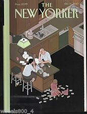 "The New Yorker Magazine October 11, 2010 ""Table Talk"" by Billy Collings Exc."