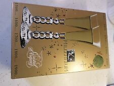 Set of 2 Millenium 2000 Lead Crystal Champagne Flutes/Glasses in original box