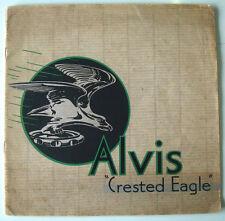 Alvis Crested Eagle Six Cylinder Models Pre-War Car Sales Brochure c1935