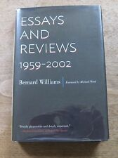 ESSAYS AND REVIEWS 1959-2002 Bernard Williams  -1st/1st  HCDJ 2014 -  FINE