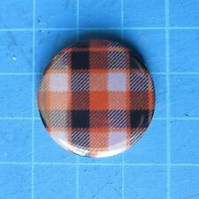 Tartan Orange black Dundee United FC  25mm Badge Scotland Scottish Independence