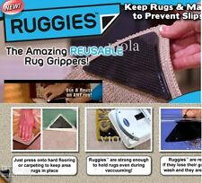 Home Ruggies Rug Carpet Grippers–As Seen on TV Reusable Triangle Pads 4Pcs/Set