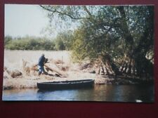 POSTCARD NORFOLK REED CUTTING AT HOW HILL