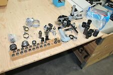 LARGE LOT OF  ZEISS AMERICAN OPTICAL OLYMPUS MICROSCOPE PARTS EYE PIECES