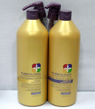 Pureology Nano Works Gold Shampoo Conditioner 33.8 oz Liter with pumps