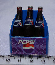 1:12 Scale Plastic Pepsi Crate & 3 large Bottles Dolls House Miniatures