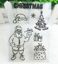 Gift Silicone Rubber Clear Stamp Seal Scrapbooking Diary Christmas Card