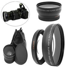 Universal 49mm 0.45X Wide Angle Macro Lens For Sony A NEX3 NEX5 NEX-C3 Camera