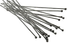 "(20) Gun Metal Plated Head Pin 2"" Long 2mm Ball 22 Gauge Wire Beading Craft"