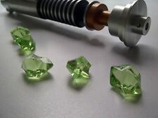 Star Wars 3x Green Jedi Lightsaber Crystals for Prop Replicas