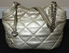 Brighton Lena Chain Crystal Breeze Quilted Leather Shoulderbag