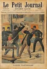 BAGARRE ELECTORALE COLLEURS D'AFFICHES VICITME CHIMISTE AUGUSTE CLAUZEL 1902