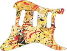 Stratocaster Pickguard Custom Fender SSS 11 Hole Guitar Pick Guard Abstract 1