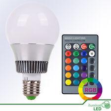 Bombilla LED E27 RGB 10W COB 360º Blanco + Control Remoto AC85-265V