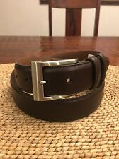 Genuine Allen Edmonds Men's Wide Basic Leather Dress Belt Brown Sz 36 *Worn Once