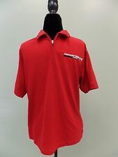 Honda Racing Shirt Oobe Hydrovent Polo Short Sleeve 1/4 Zip Polyester Red Wm's L