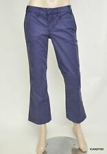 Nwt Tory Burch Soft Twill Ankle Flare Chinos Pants Trousers ~Pirate Blue *26