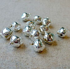 700 pcs - 12 mm silver jingle bells Charm Christmas Pendant
