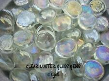 BRILLIANT CLEAR LUSTER 25 GLASS GEMS ~ Mosaic Tile TILES