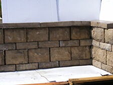Bradstone Landscape Walling blocks and Coping in Autumn Chestnut  Easy to lay .