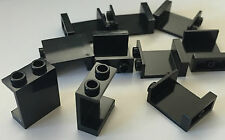 *NEW* 10 Pieces Lego BLACK Panel 1x2x2 with Hollow Studs