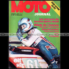 MOTO JOURNAL N°157 MICHEL ROUGERIE HARLEY- MZ 125 ETS SIDE-CAR TRIAL 1974