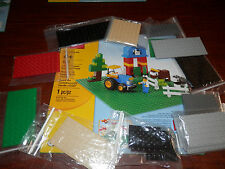 NIP LEGO green baseplate with 11 pkgs of various legos