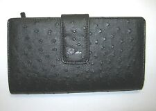 Buxton Women's Bifold Organizer Super Wallet Clutch C165W24UN Black New NWT $40