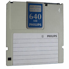 "Philips  640MB  MO DISK Disc 3,5"" Medium     #10"