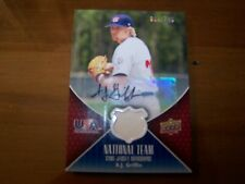 A.J. Griffin Autograph Game Used Jersey 2009 Upper Deck Baseball Series 2