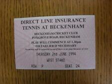 02/06/1994 tennis ticket: ligne directe d'assurance tennis [à Beckenham cricket clu