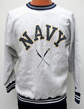 vtg NAVY ROWING 80s Champion Reverse Weave Sweatshirt L/XL crew distress warmup