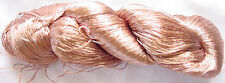 New Silk 1 PLY Skeins Yarn Lace Crochet 115g Woven Thread Knit Work Sari Fabric