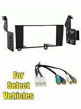 Double Din Car Stereo Radio Dash Install Trim Kit Combo for some Lexus LS400 Amp