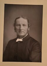 Fine 1890 Cabinet Card Portrait Photo Rev. Dr Abbott Teacher Author W&D Downey