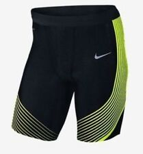 NIKE POWER SPEED UOMO RUNNING metà Collant 822556-014 Nero Volt TAGLIA M MEDIUM