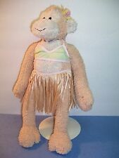 Pottery Barn Kids Plush MONKEY / SOUND -  Bikini Grass Skirt Hula Girl - VGC