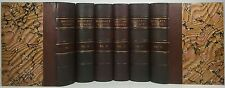 1873~MACAULAY'S ESSAYS~Antique LEATHER 6 Vol Complete Book Set~Very Old RARE Set