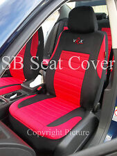 i - TO FIT A MITSUBISHI DELICA CAR, SEAT COVERS, RED VRX SPORTS, FULL SET
