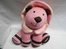 "Knit With Love Pink Brown Yarn plush 9"" tall VGC CUTE"